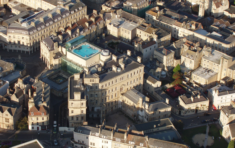 Bath thermae aerial